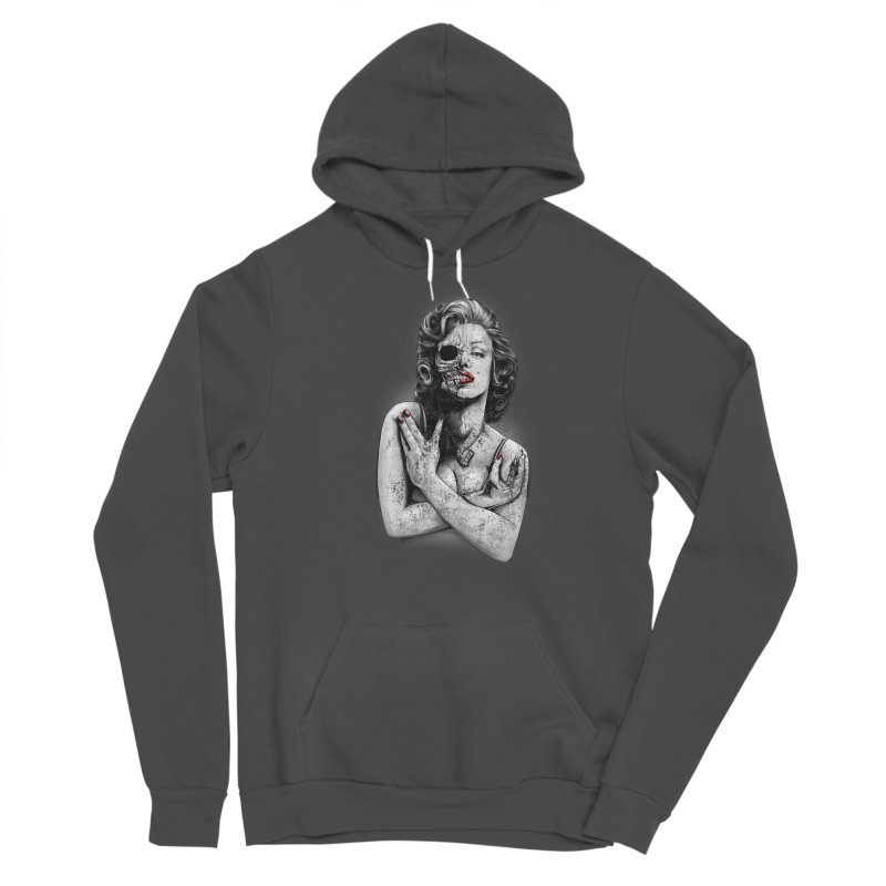 Monroe skull Men's Sponge Fleece Pullover Hoody by fishark's Artist Shop