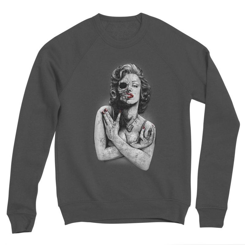 Monroe skull Women's Sponge Fleece Sweatshirt by fishark's Artist Shop
