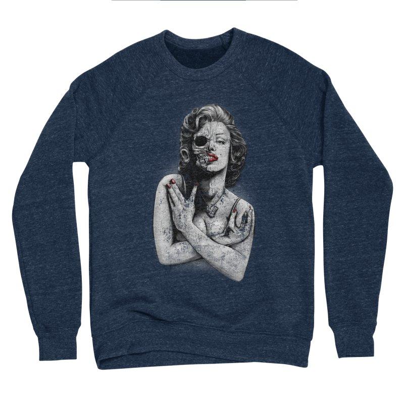Monroe skull Men's Sponge Fleece Sweatshirt by fishark's Artist Shop