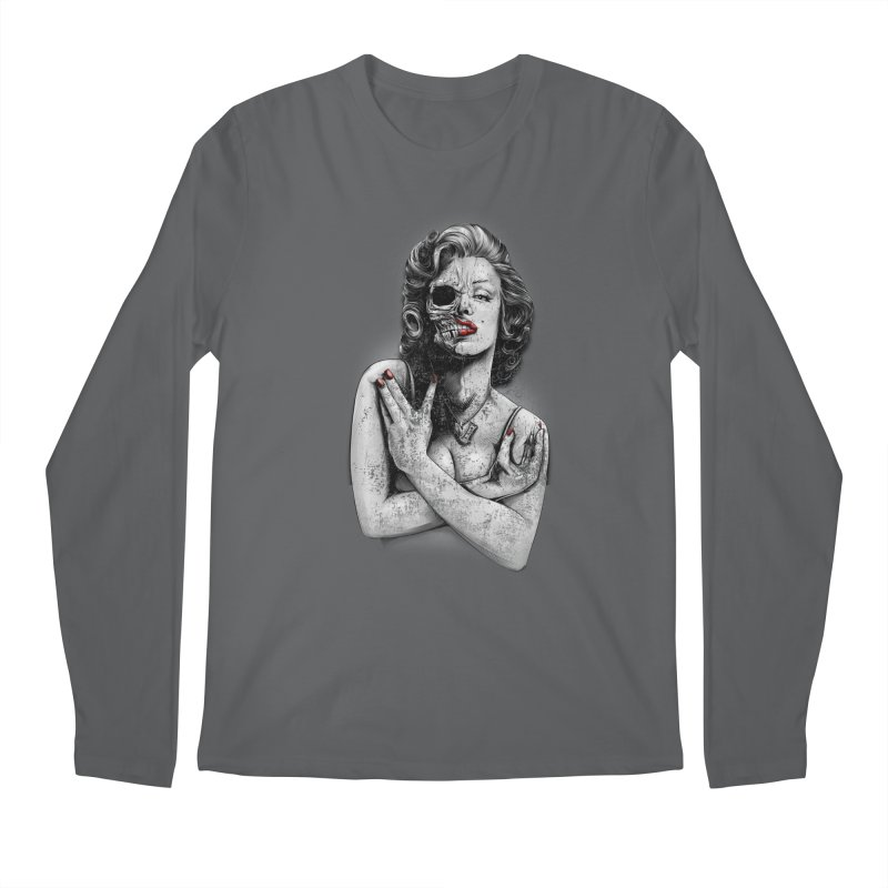 Monroe skull Men's Longsleeve T-Shirt by fishark's Artist Shop