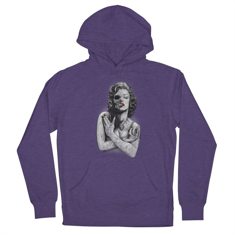 Monroe skull Women's French Terry Pullover Hoody by fishark's Artist Shop