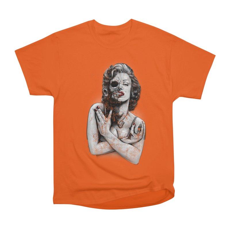 Monroe skull Men's Heavyweight T-Shirt by fishark's Artist Shop