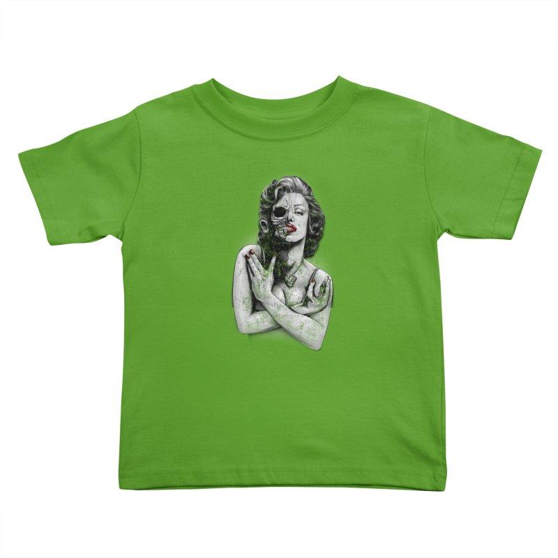 Monroe skull Kids Toddler T-Shirt by fishark's Artist Shop