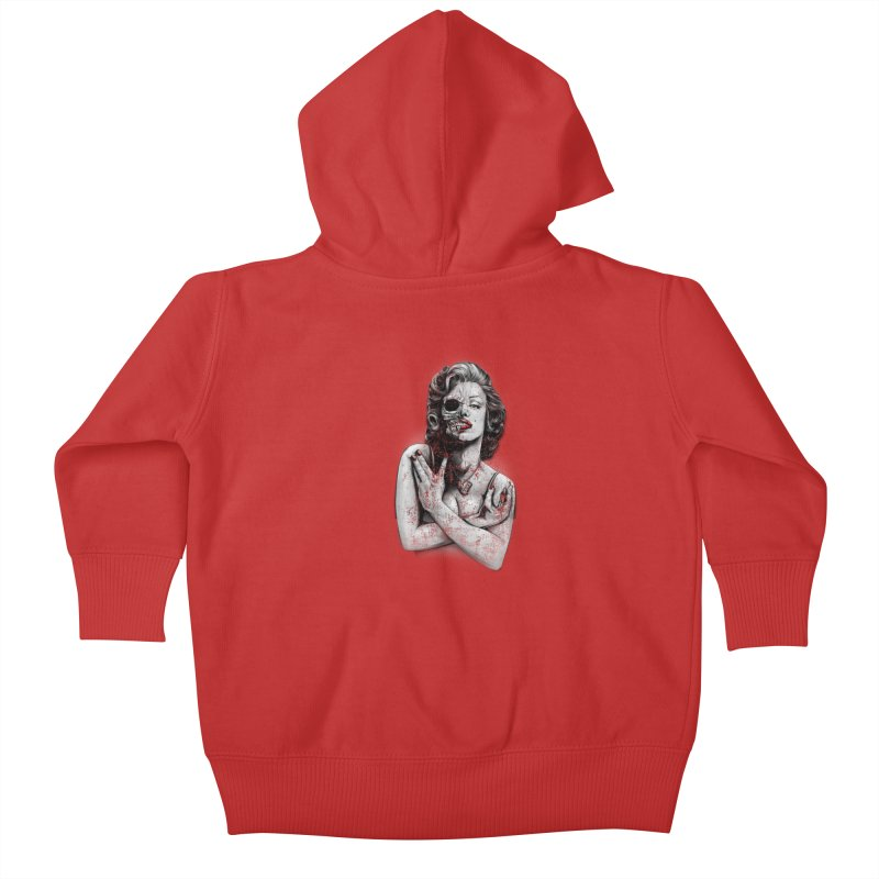 Monroe skull Kids Baby Zip-Up Hoody by fishark's Artist Shop