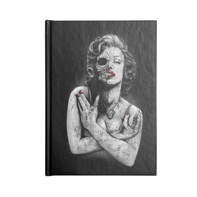 Monroe skull Accessories Lined Journal Notebook by fishark's Artist Shop