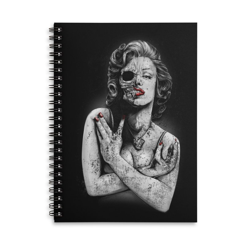 Monroe skull Accessories Lined Spiral Notebook by fishark's Artist Shop
