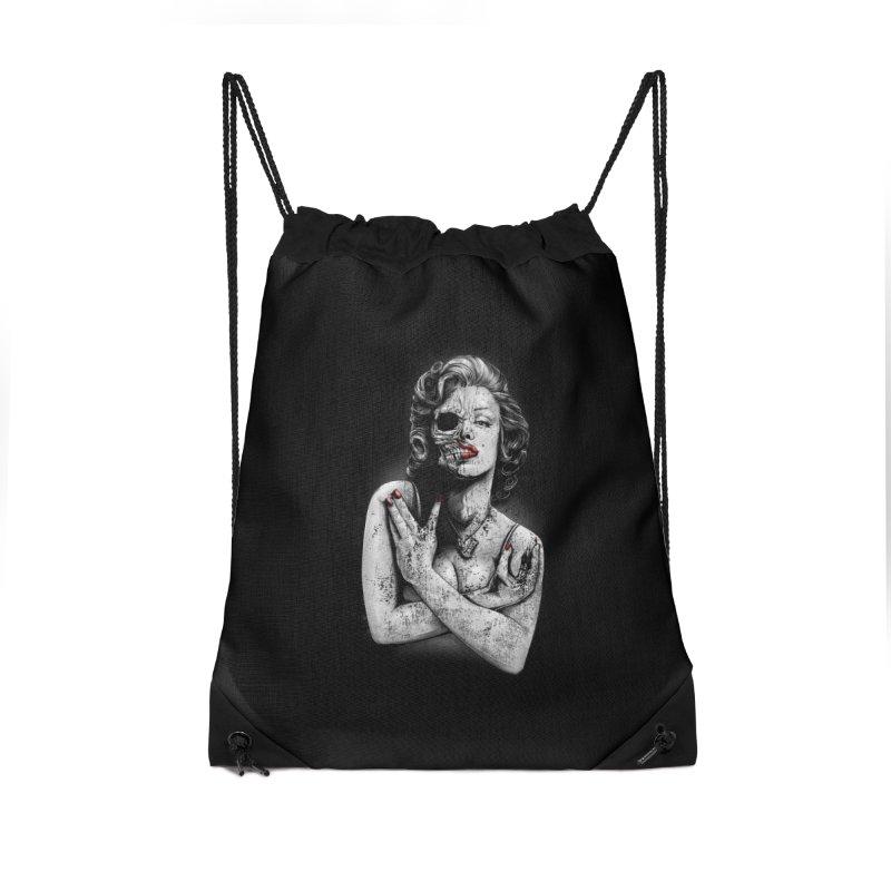 Monroe skull Accessories Drawstring Bag Bag by fishark's Artist Shop