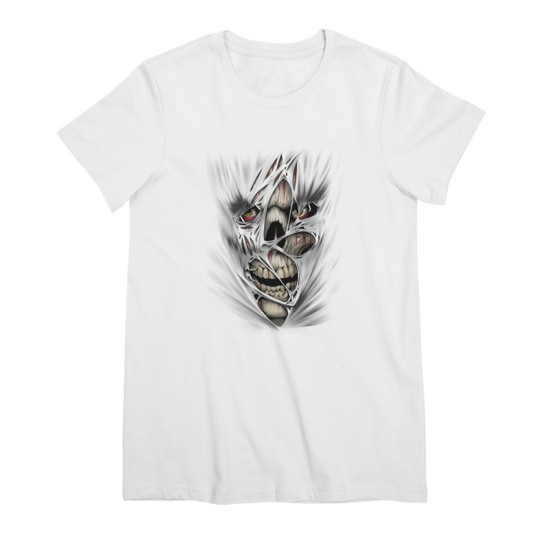 3D Skull Women's Premium T-Shirt by fishark's Artist Shop
