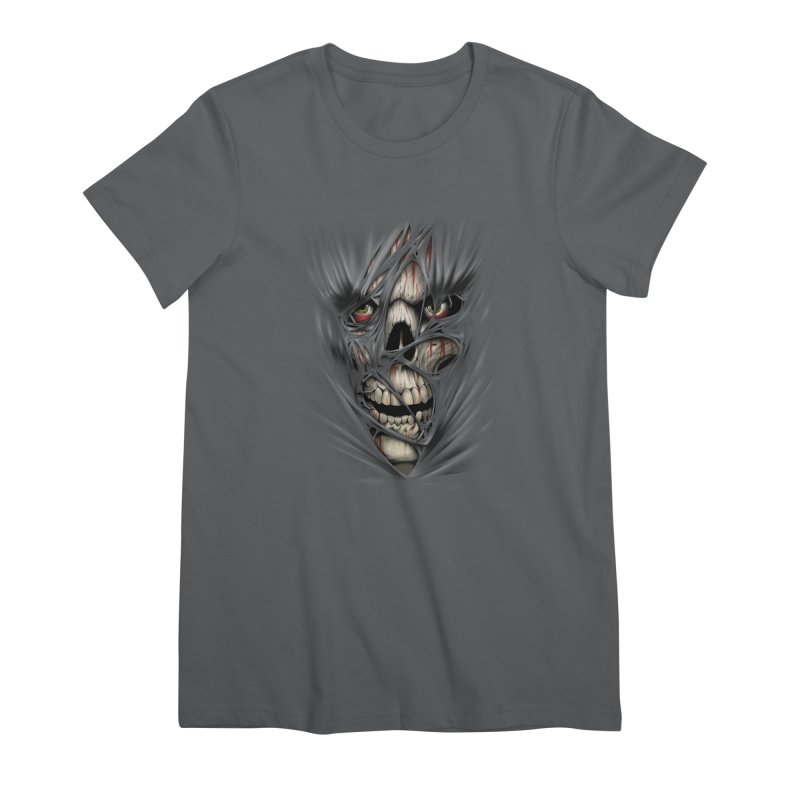 3D Skull Women's Premium T-Shirt by fishark's Artist Shop