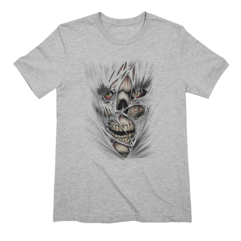 3D Skull Men's Extra Soft T-Shirt by fishark's Artist Shop