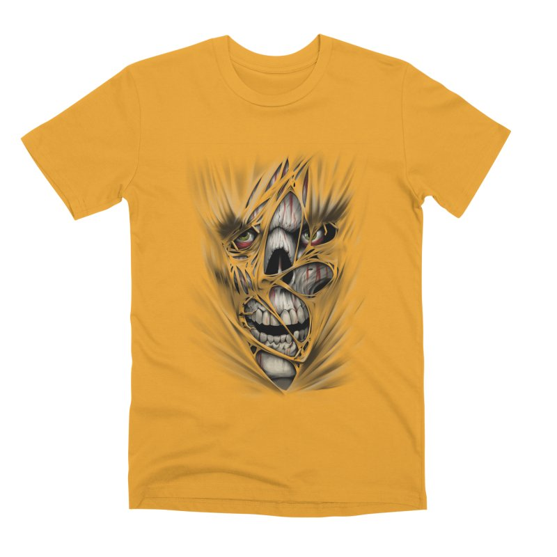 3D Skull Men's Premium T-Shirt by fishark's Artist Shop
