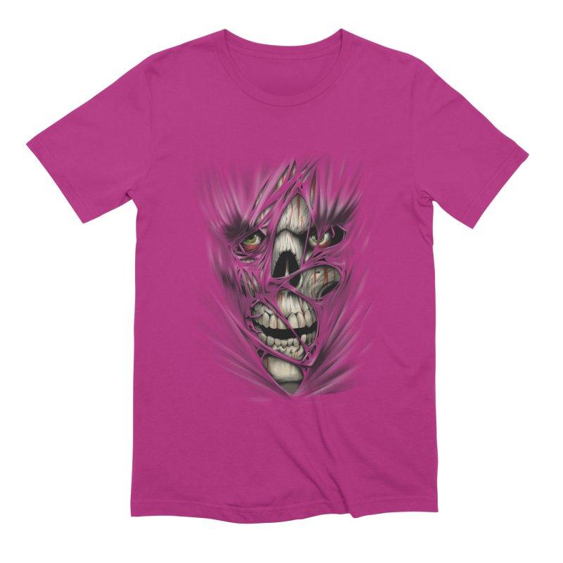 3D Skull Men's Extra Soft T-Shirt by fishark's Artist Shop