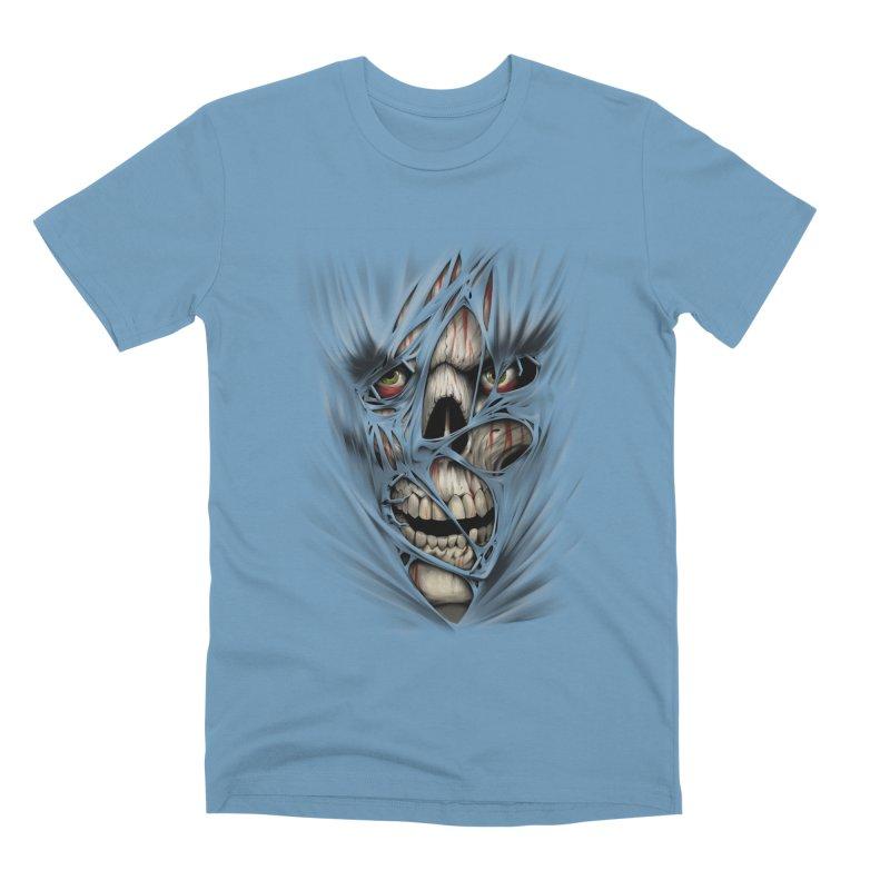 3D Skull Men's Premium T-Shirt by fishark's Artist Shop