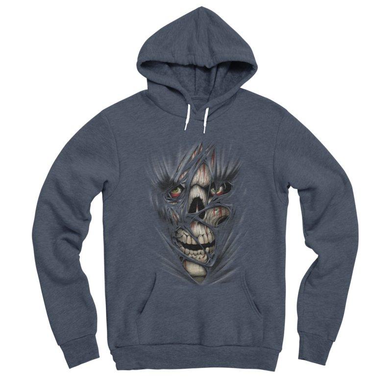 3D Skull Men's Sponge Fleece Pullover Hoody by fishark's Artist Shop