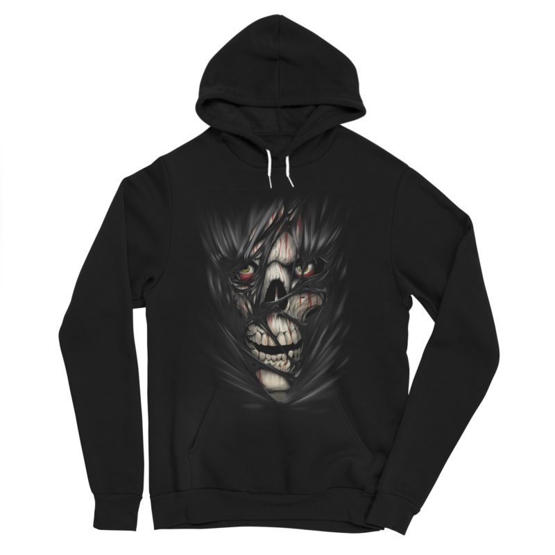 3D Skull Women's Sponge Fleece Pullover Hoody by fishark's Artist Shop