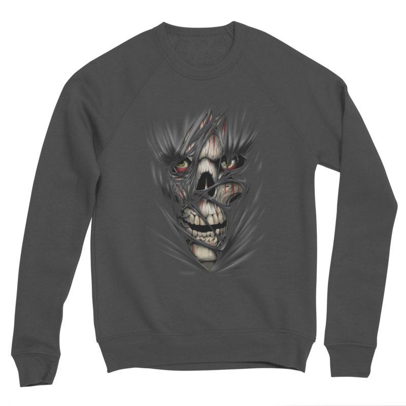 3D Skull Men's Sponge Fleece Sweatshirt by fishark's Artist Shop
