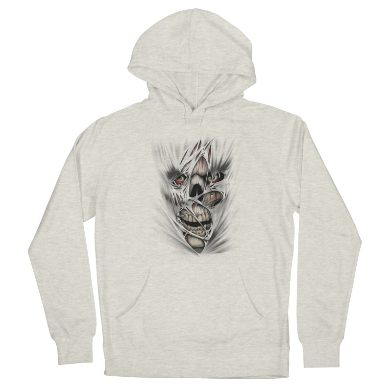 3D Skull Women's French Terry Pullover Hoody by fishark's Artist Shop