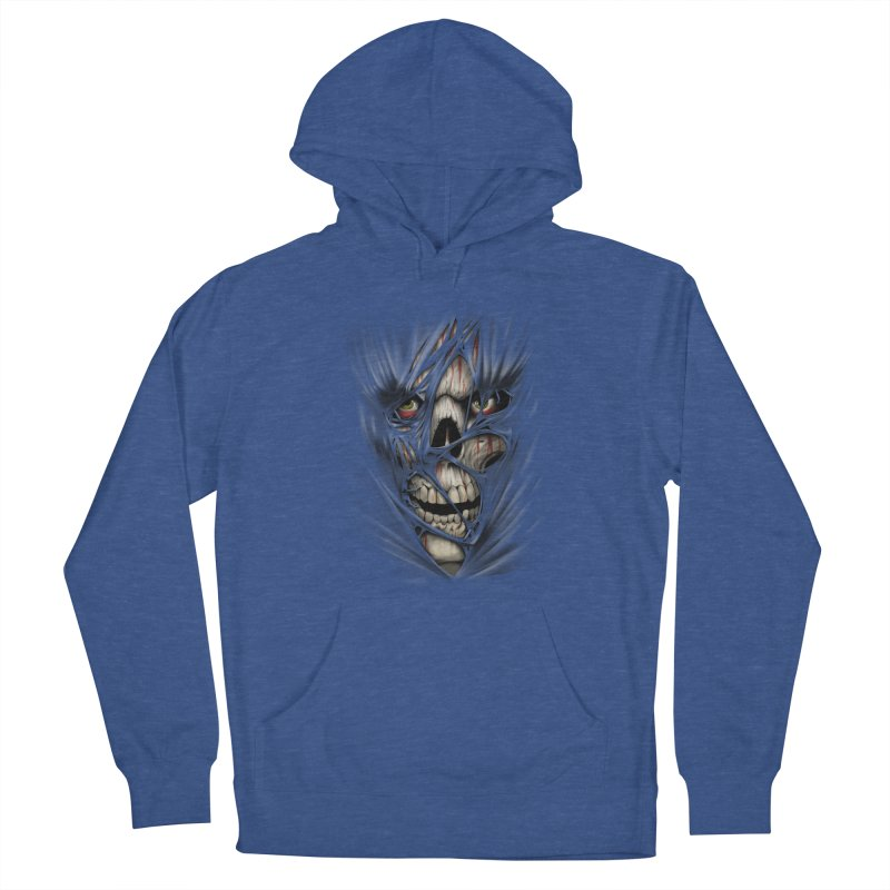 3D Skull Men's French Terry Pullover Hoody by fishark's Artist Shop