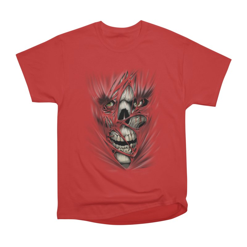 3D Skull Women's Heavyweight Unisex T-Shirt by fishark's Artist Shop
