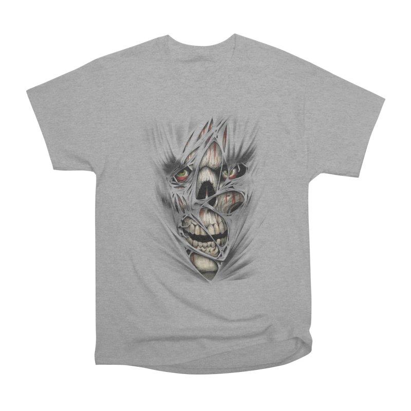 3D Skull Women's Heavyweight Unisex T-Shirt by fishark's Artist Shop