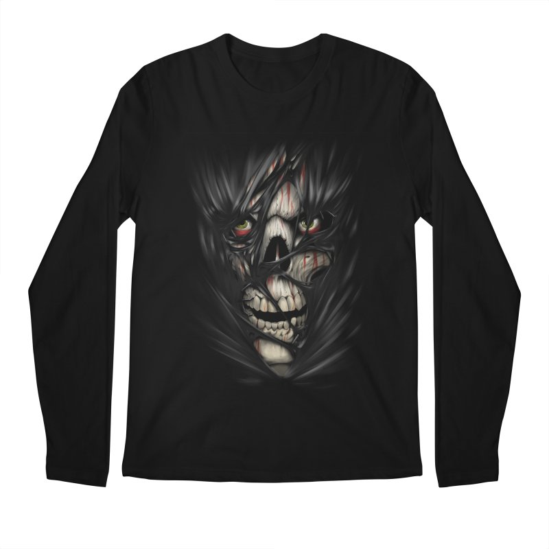 3D Skull Men's Regular Longsleeve T-Shirt by fishark's Artist Shop