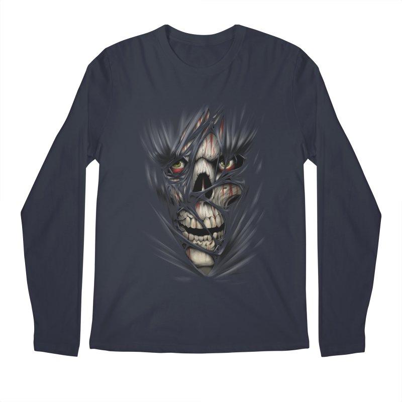 3D Skull Men's Regular Longsleeve T-Shirt by fishark's Artist Shop
