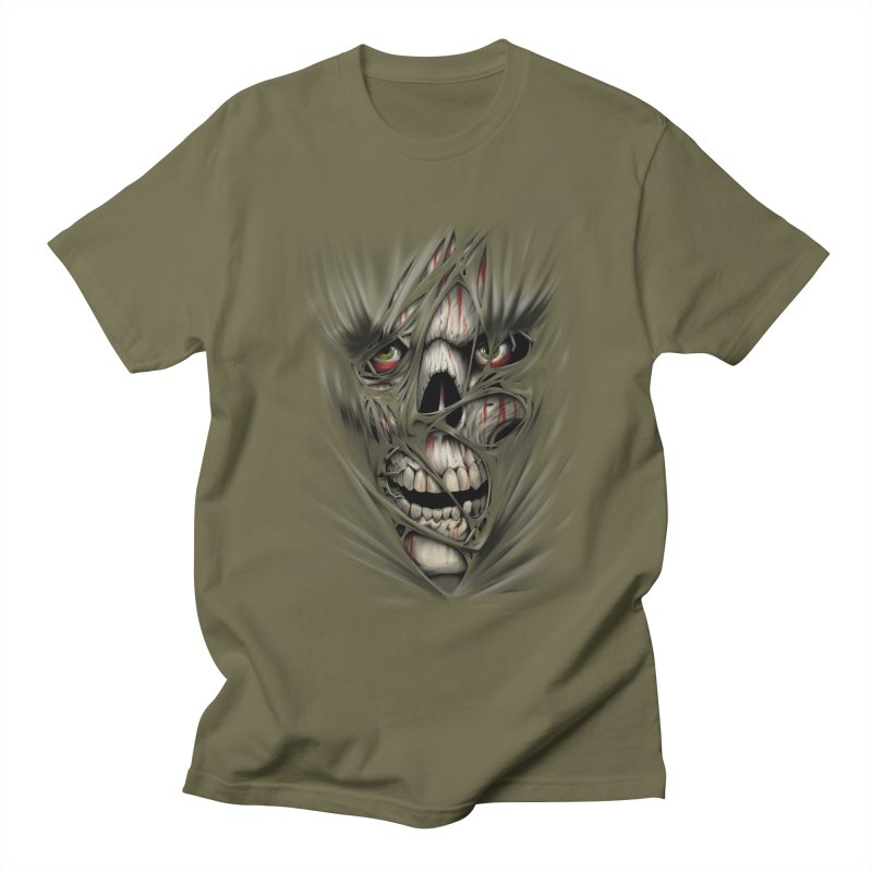 3D Skull Women's Regular Unisex T-Shirt by fishark's Artist Shop