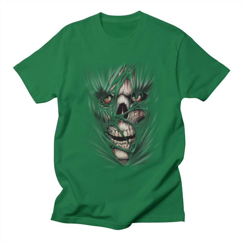 3D Skull Men's Regular T-Shirt by fishark's Artist Shop
