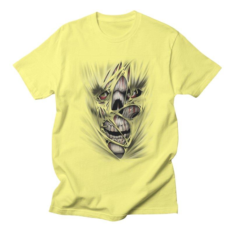 3D Skull Women's Regular Unisex T-Shirt by fishark's Artist Shop