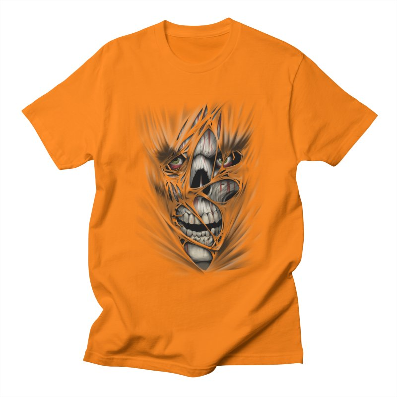 3D Skull Men's Regular T-Shirt by fishark's Artist Shop