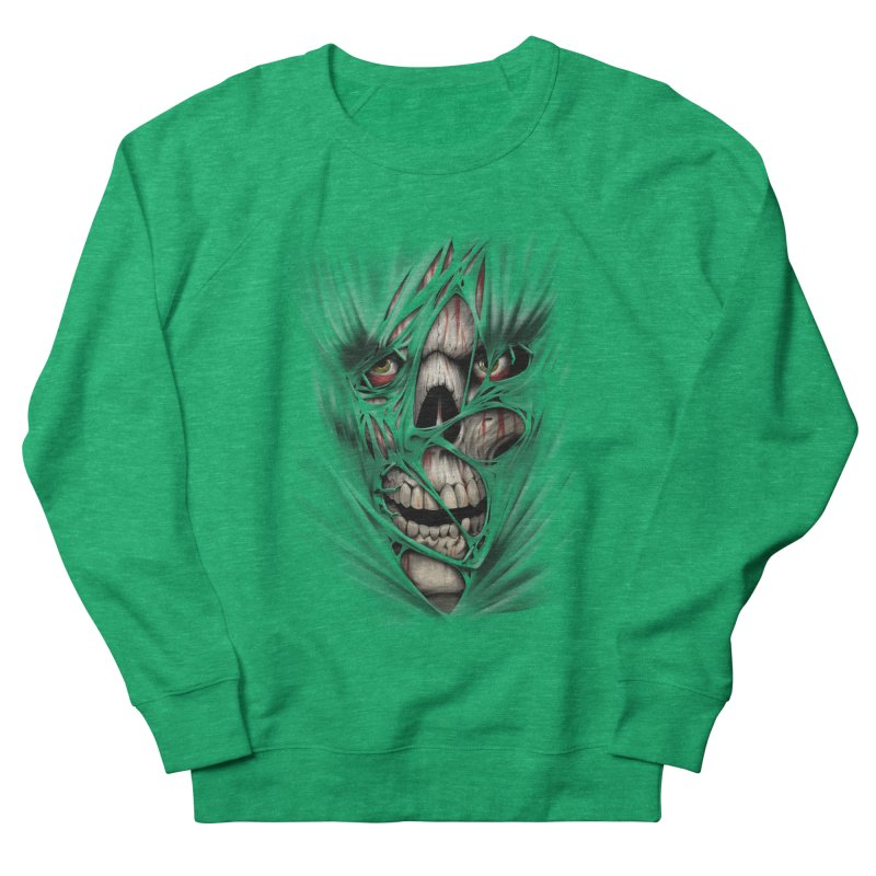 3D Skull Women's Sweatshirt by fishark's Artist Shop