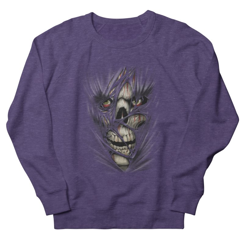 3D Skull Women's French Terry Sweatshirt by fishark's Artist Shop