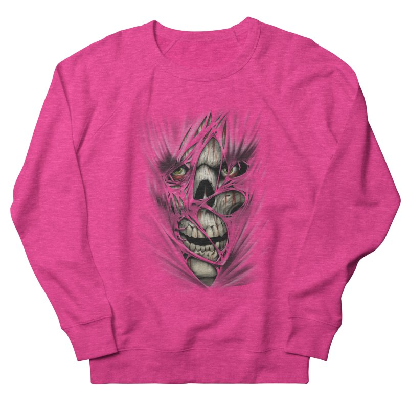 3D Skull Women's French Terry Sweatshirt by fishark's Artist Shop