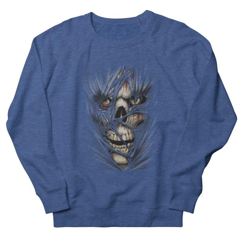 3D Skull Men's Sweatshirt by fishark's Artist Shop