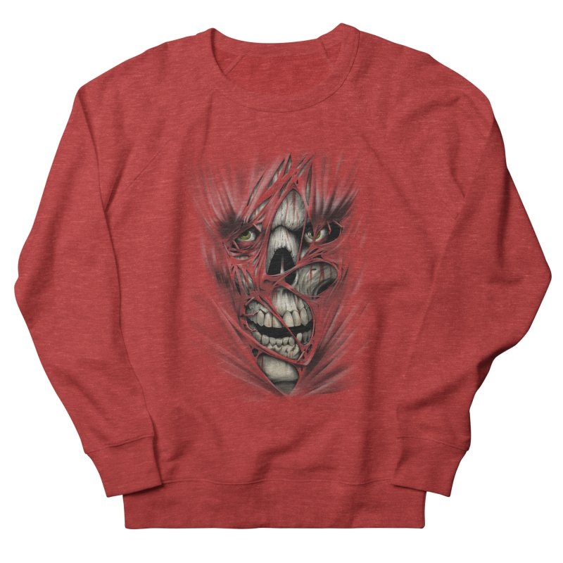 3D Skull Men's Sweatshirt by fishark's Artist Shop