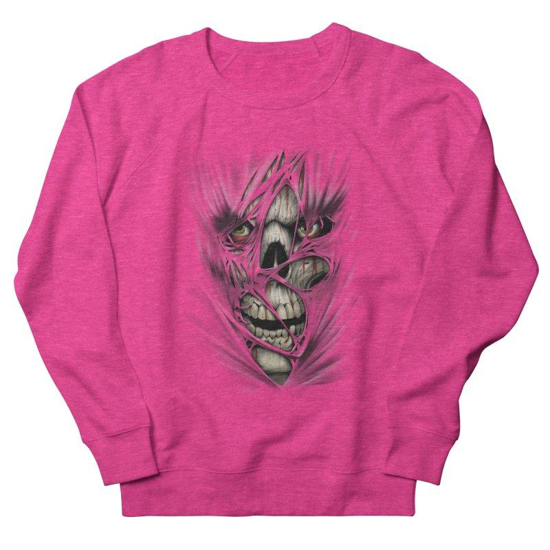 3D Skull Men's French Terry Sweatshirt by fishark's Artist Shop