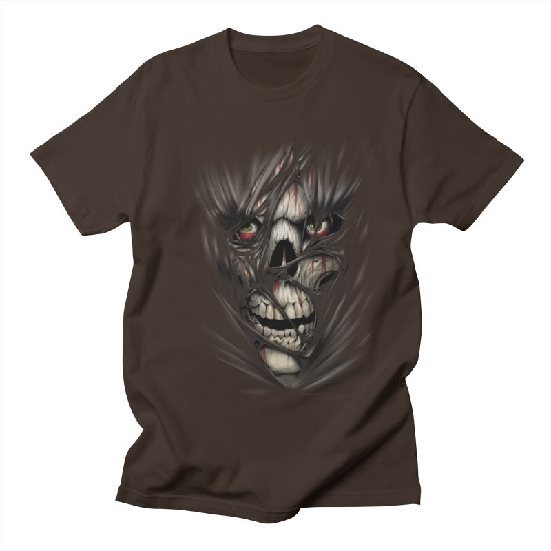 3D Skull Men's T-Shirt by fishark's Artist Shop