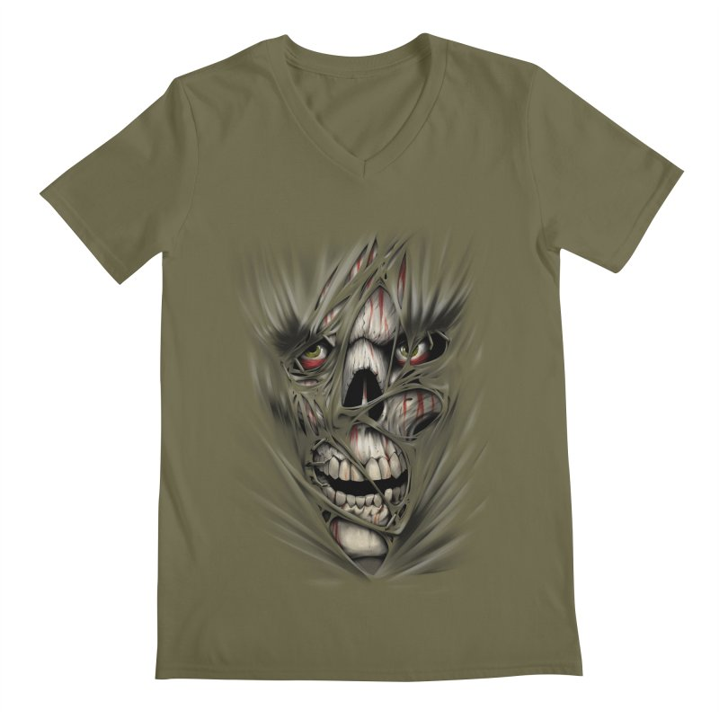 3D Skull Men's V-Neck by fishark's Artist Shop