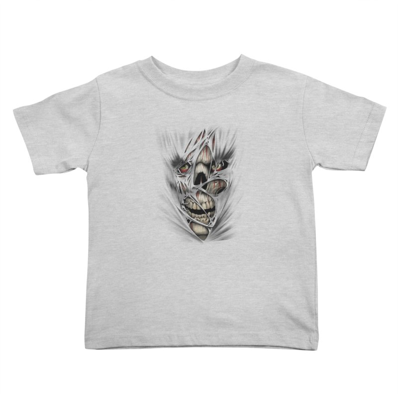 3D Skull Kids Toddler T-Shirt by fishark's Artist Shop