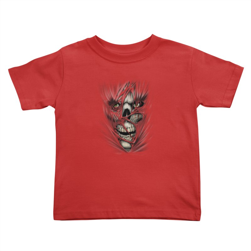 3D Skull Kids Toddler T-Shirt by fishark's Artist Shop