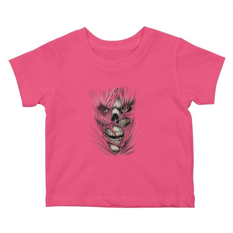 3D Skull Kids Baby T-Shirt by fishark's Artist Shop