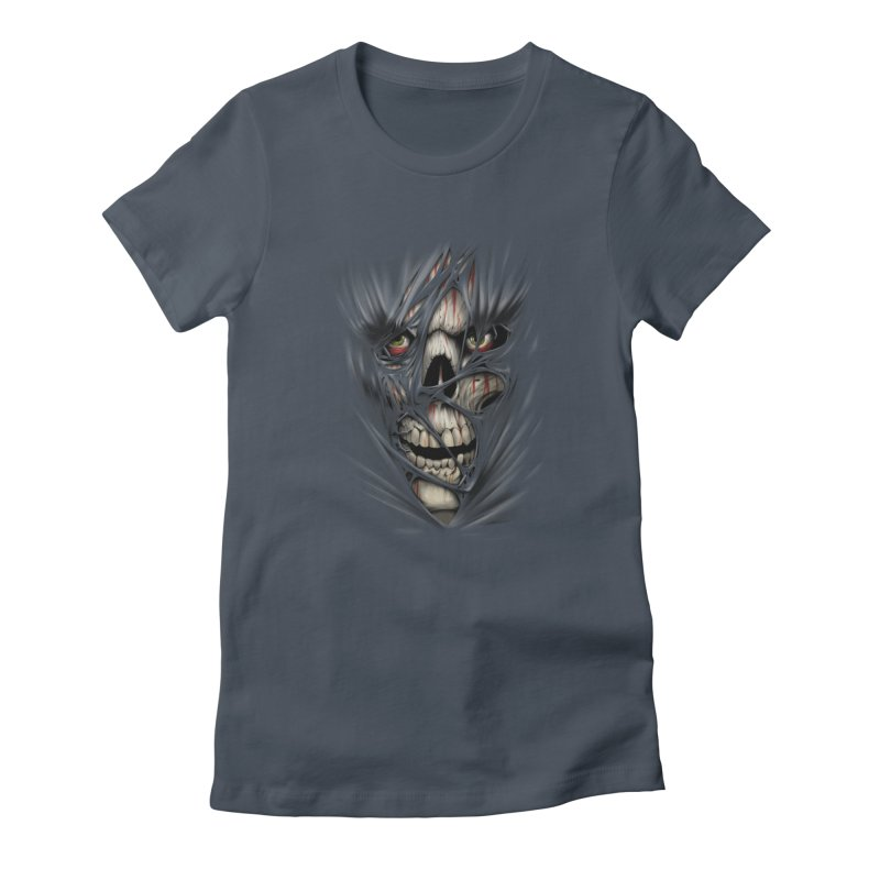3D Skull Women's T-Shirt by fishark's Artist Shop