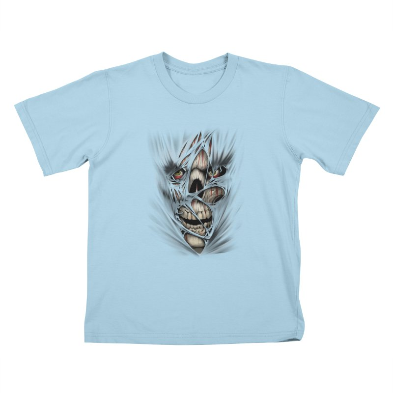 3D Skull Kids T-Shirt by fishark's Artist Shop