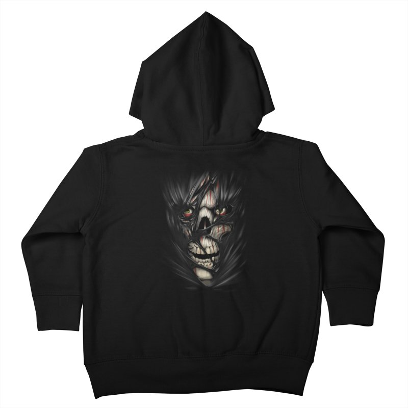 3D Skull Kids Toddler Zip-Up Hoody by fishark's Artist Shop