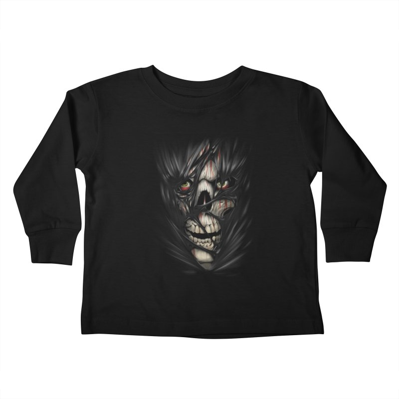 3D Skull Kids Toddler Longsleeve T-Shirt by fishark's Artist Shop
