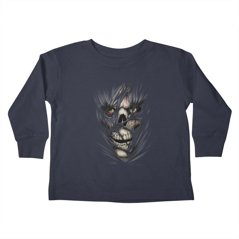 3D Skull Kids Toddler Longsleeve T-Shirt by fishark's Artist Shop