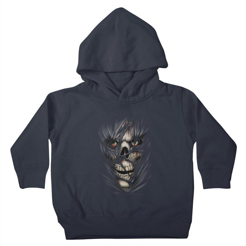3D Skull Kids Toddler Pullover Hoody by fishark's Artist Shop