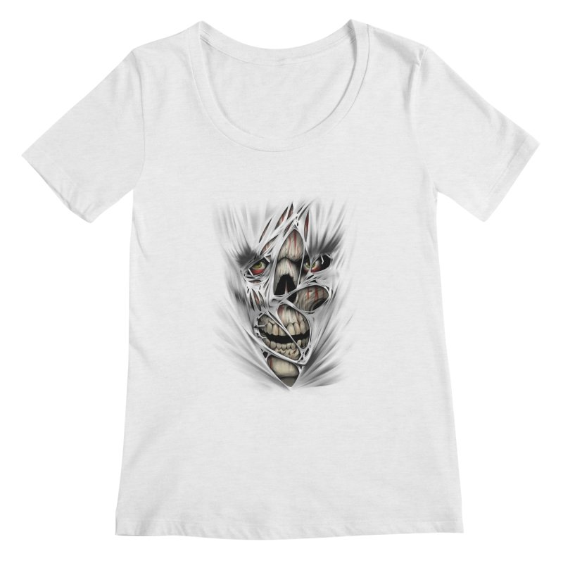 3D Skull Women's Regular Scoop Neck by fishark's Artist Shop
