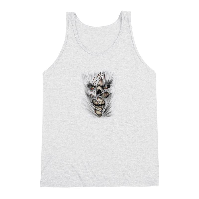 3D Skull Men's Tank by fishark's Artist Shop