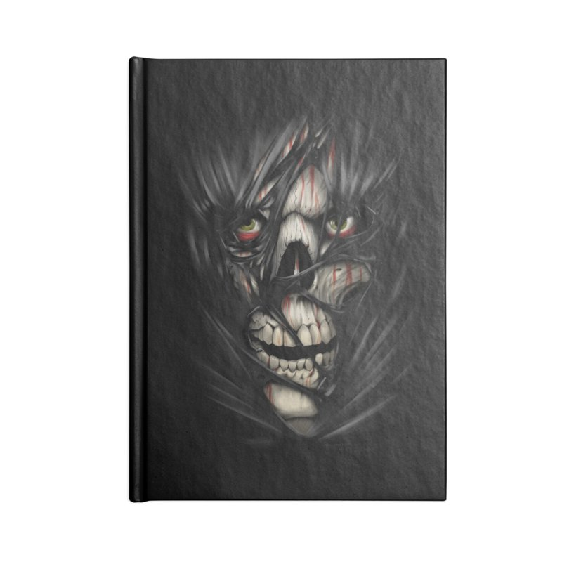 3D Skull Accessories Lined Journal Notebook by fishark's Artist Shop